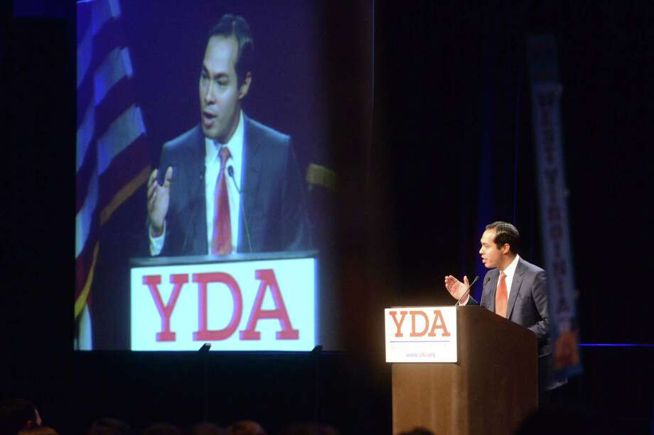 Mayor Julián Castro tells hundreds of people gathered for the biennial national convention of the Young Democrats of America that they are the country's future. Photo: Billy Calzada / San Antonio Express-News