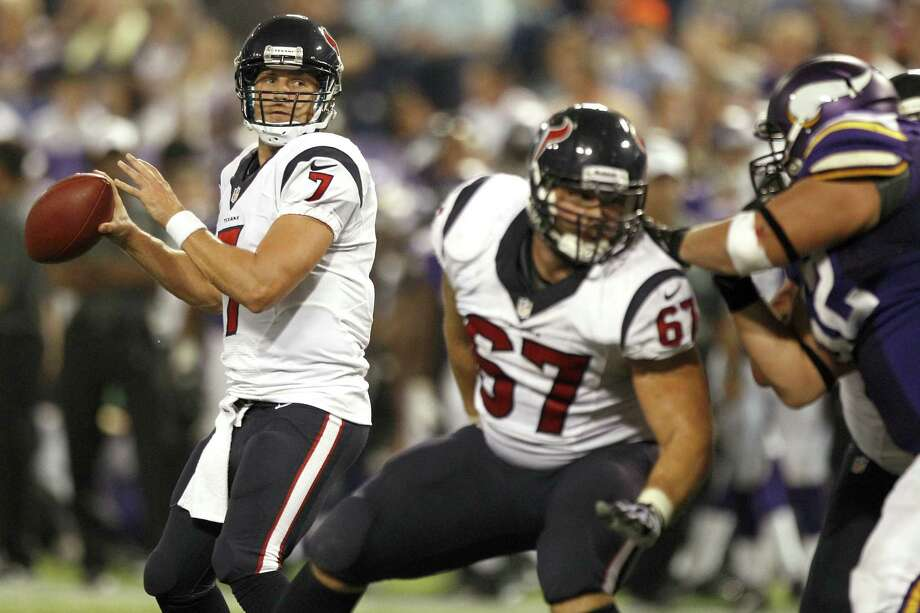 Texans QB Case Keenum (7) completed 13 of 18 for 125 yards, including a 2-yard TD pass, in Friday's preseason victory. Photo: Brett Coomer / Houston Chronicle