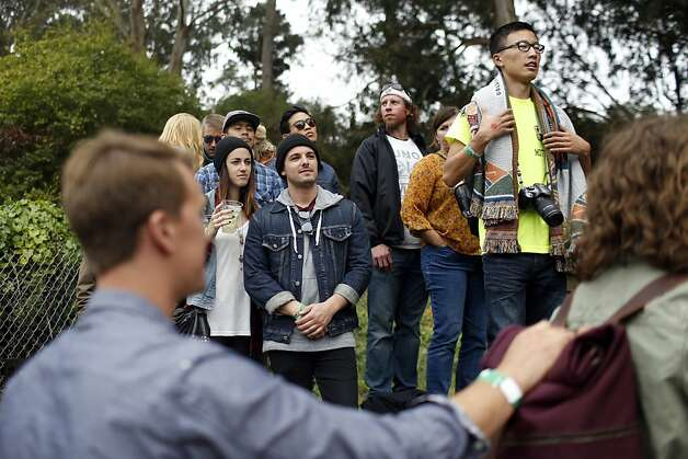 Fans watch as The Tallest Man on Earth plays on the Sutro stage at the Outside Land Festival in San Francisco, Calif. on Saturday, August 10, 2013. Photo: Ian C. Bates, The Chronicle