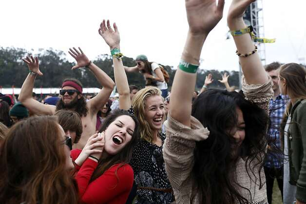 Fans dance while the Yeah Yeah Yeahs play at the Outside Land Festival in San Francisco, Calif. on Saturday, August 10, 2013. Photo: Ian C. Bates, The Chronicle