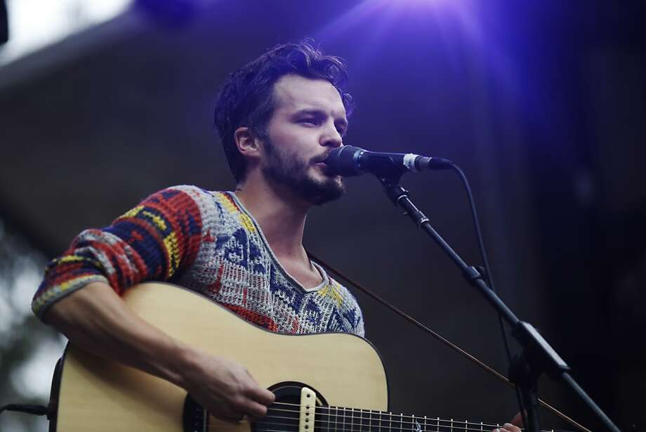 Kristian Matsson of The Tallest Man on Earth sings on the Sutro stage at the Outside Land Festival in San Francisco, Calif. on Saturday, August 10, 2013. Photo: Ian C. Bates, The Chronicle