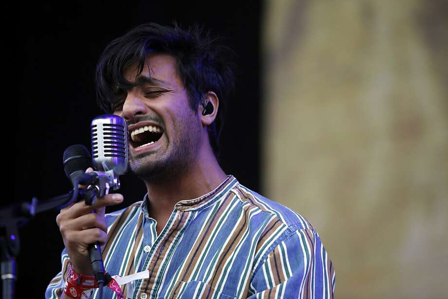 Sameer Gadhia, lead vocals for Young the Giant, performs at the Outside Land Festival in San Francisco, Calif. on Saturday, August 10, 2013. Photo: Katie Meek, The Chronicle