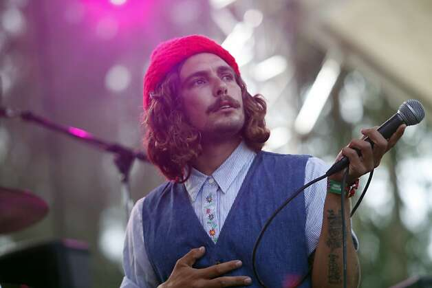Brooks Nielsen, lead vocals for The Growlers performs at the Outside Land Festival in San Francisco, Calif. on Saturday, August 10, 2013. Photo: Katie Meek, The Chronicle