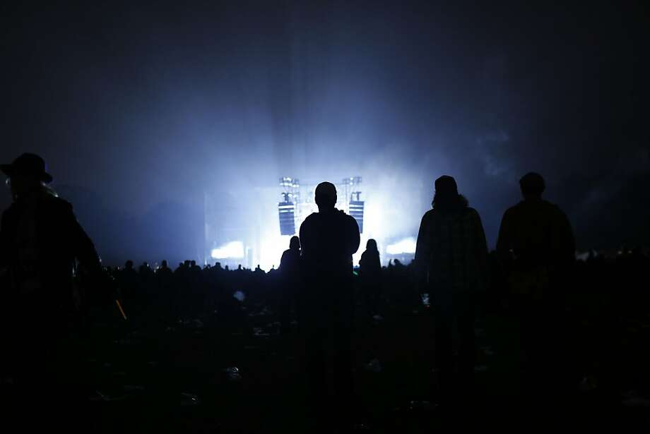 Fans watch as the Nine Inch Nails play during the second day of the Outside Lands music festival in Golden Gate Park. Photo: Ian C. Bates, The Chronicle