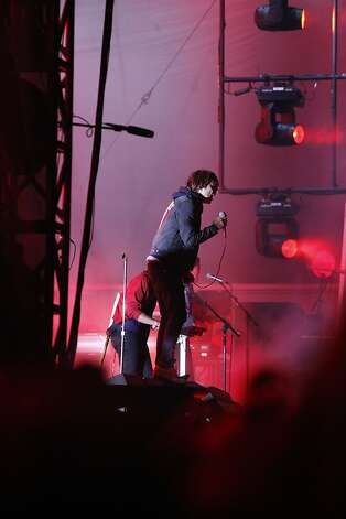 Phoenix performs at the Outside Land Festival in San Francisco on Saturday. Photo: Katie Meek, The Chronicle