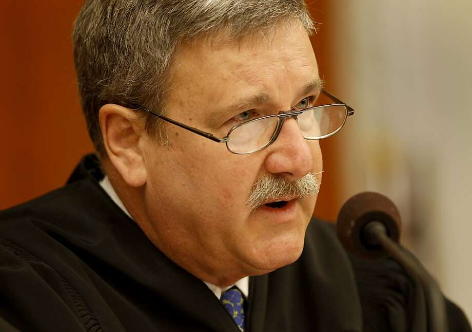 Superior Court Judge Curtis Karnow questions the attorneys at the session where he ordered the 60-day cooling-off period. Photo: Brant Ward, The Chronicle
