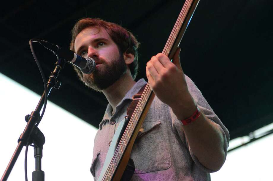 Surfer Blood's bassist, Kevin Williams, performs on stage at the 2013 107.7 The End's Summer Camp Saturday, Aug. 10, 2013, at Marymoor Park in Redmond. Photo: SY BEAN, SEATTLEPI.COM / SEATTLEPI.COM