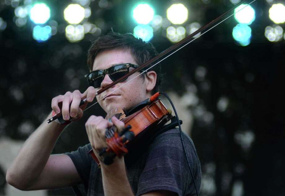 Jacob Anderson of indie rock band Hey Marseilles plays the viola during their performance at the 2013 107.7 The End's Summer Camp Saturday, Aug. 10, 2013, at Marymoor Park in Redmond. Photo: SY BEAN, SEATTLEPI.COM / SEATTLEPI.COM