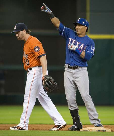 Aug. 9: Rangers 9, Astros 5  The Rangers attacked the Astros in th