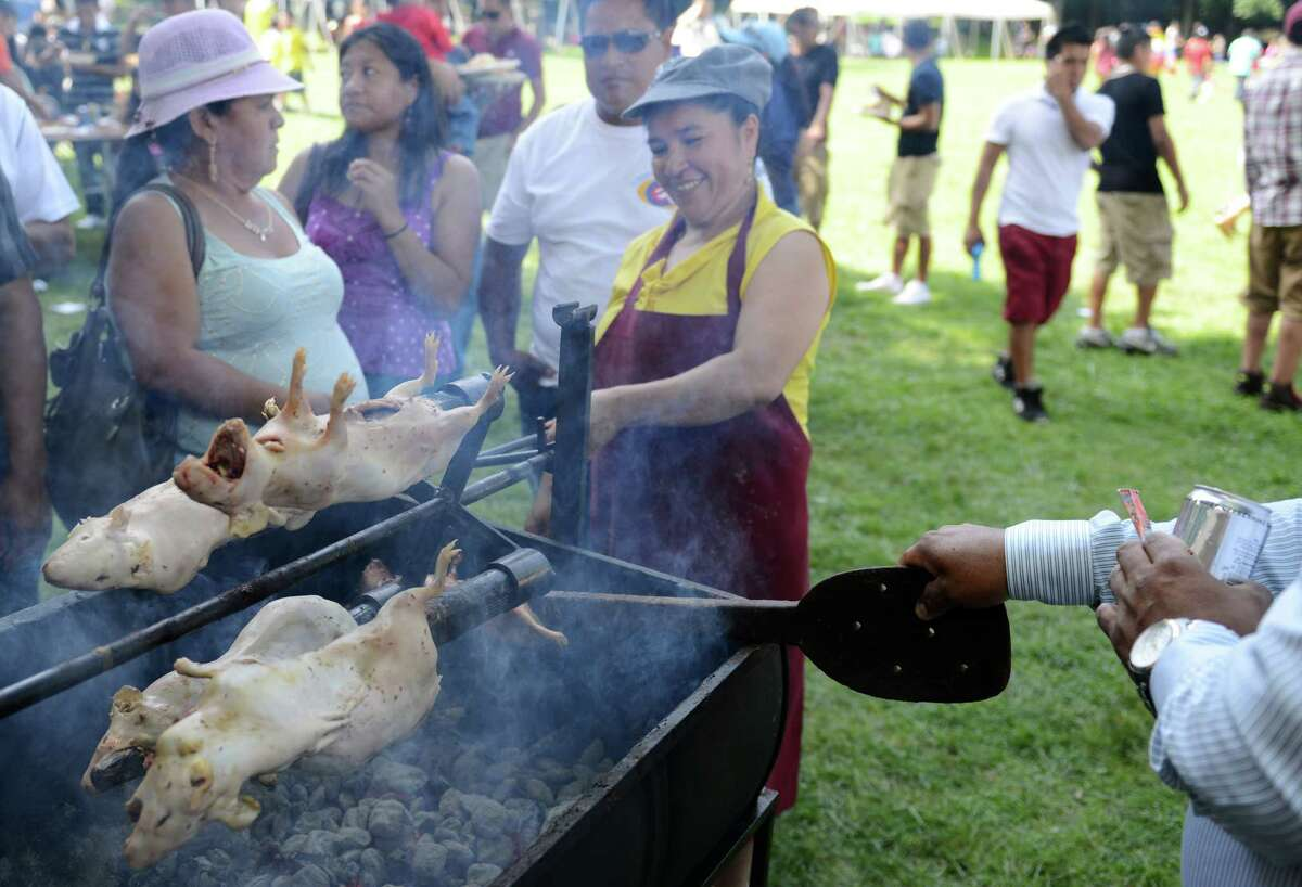 Cuy, or Guinea Pig, is a popular Ecuadorian cuisine that was served at the Ecuadorian Festival at Ives Concert Park in Danbury, Conn. on Sunday, Aug. 11, 2013. The day-long festival attracted hundreds of people, who enjoyed food, games and music while celebrating the culture of Ecuador.