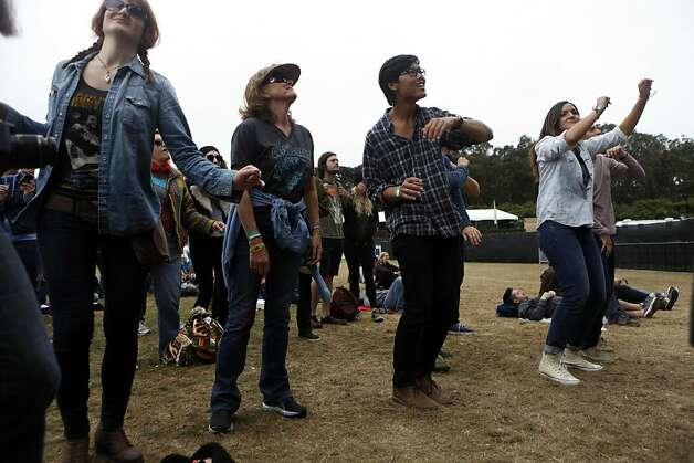 Early morning Outside Land Festival goers enjoy dancing to Ivan Neville's Dumpstaphunk in San Francisco, Calif. on Sunday, August 11, 2013. Photo: Katie Meek, The Chronicle