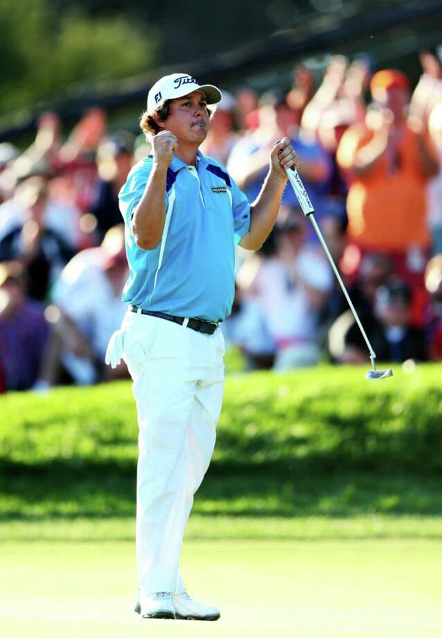 ROCHESTER, NY - AUGUST 11:  Jason Dufner of the United States celebrates on the 18th green after his two-stroke victory at the 95th PGA Championship at Oak Hill Country Club on August 11, 2013 in Rochester, New York. Photo: Andrew Redington, Getty Images / 2013 Getty Images