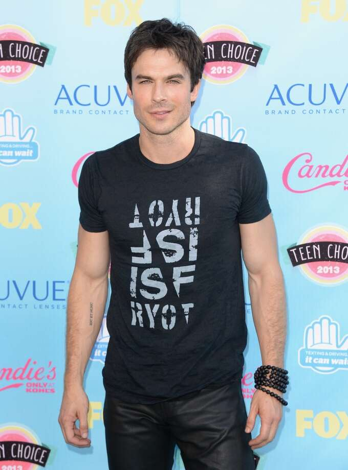 Actor Ian Somerhalder attends the Teen Choice Awards 2013 at Gibson Amphitheatre on August 11, 2013 in Universal City, California.  (Photo by Jason Merritt/Getty Images) Photo: Jason Merritt, Getty Images