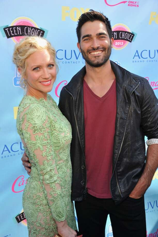 Actors Brittany Snow (L) and  Tyler Hoechlin attend the 2013 Teen Choice Awards at Gibson Amphitheatre on August 11, 2013 in Universal City, California.  (Photo by Kevin Mazur/WireImage) Photo: Kevin Mazur, WireImage