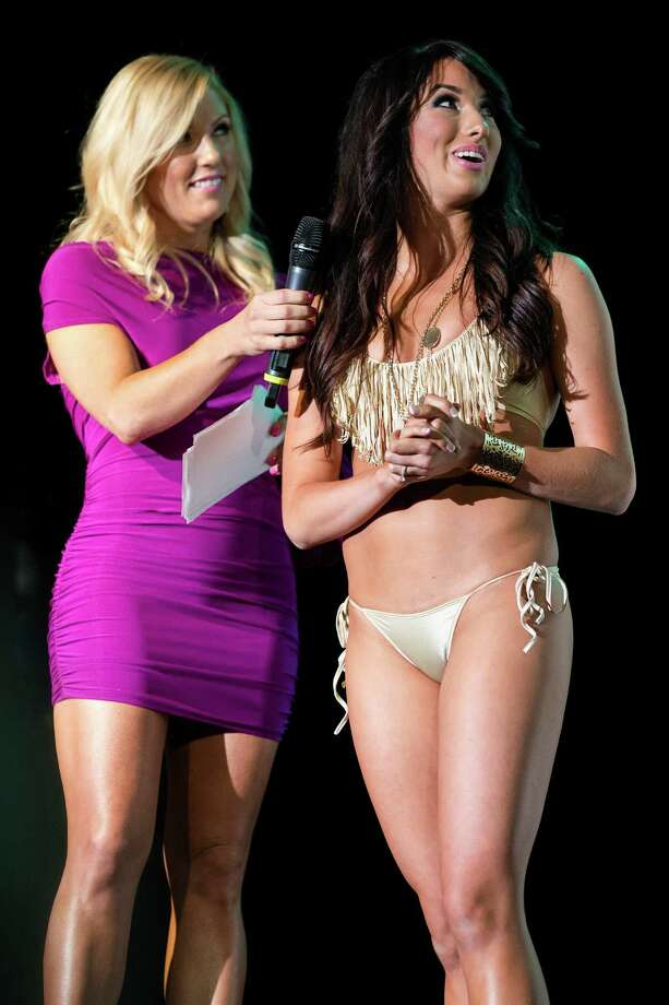 Sea Gals answer questions during a brief on-stage interview during the Sea Gals 2014 calendar unveiling event Sunday, August 11, 2013, in Seattle. Photo: JORDAN STEAD, SEATTLEPI.COM / SEATTLEPI.COM