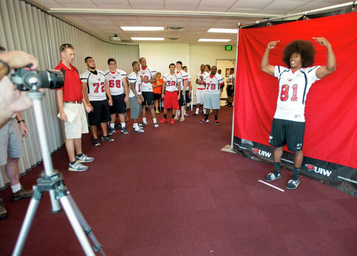 Trey Anderson poses for his team picture during UIW Football picture day, Sunday, August 11, 2013, at UIW Benson Stadium in San Antonio.