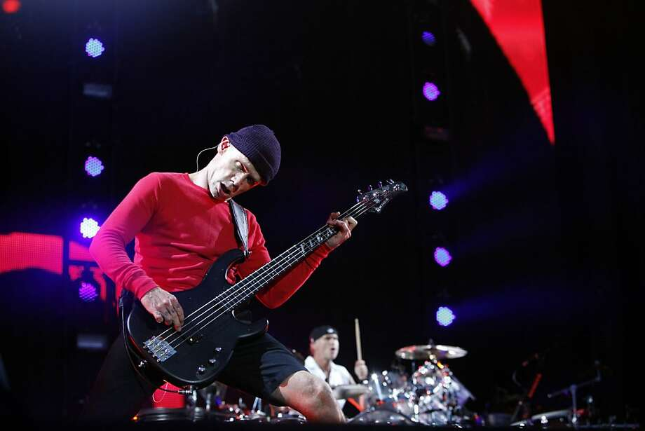 "Michael ""Flea"" Balzary of Red Hot Chili Peppers perform at the Outside Lands Festival in San Francisco, Calif. on Sunday, August 11, 2013. Photo: Katie Meek, The Chronicle"