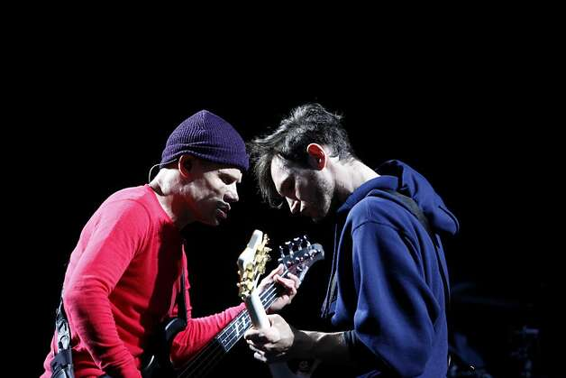 "Michael ""Flea"" Balzary and Josh Klinghoffer of Red Hot Chili Peppers perform at the Outside Lands Festival in San Francisco, Calif. on Sunday, August 11, 2013. Photo: Katie Meek, The Chronicle"