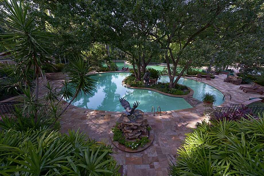 The lhome comes with three pools, including a one million gallon pool. The owner said it's one of the largest private pools in the U.S. The asking price is $14.5 million.
