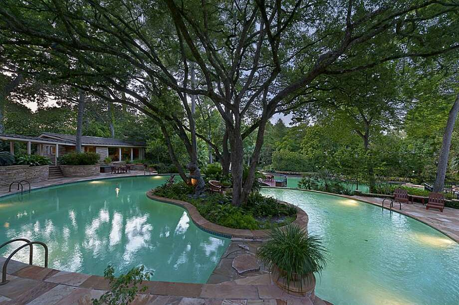 The lhome comes with three pools, including a one million gallon pool. The owner said it's one of the largest private pools in the U.S. The asking price is $14.5 million.See the listing here.
