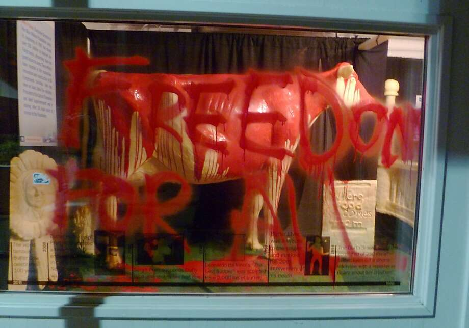 Sinning against the lard: In Iowa, no butter animal is safe after vandals broke into the 