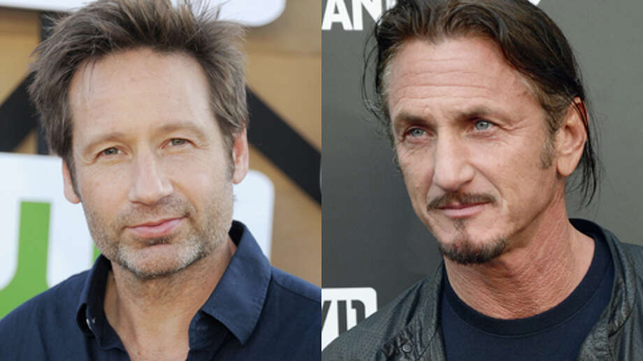 They're almost the same age. David Duchovny turned 53 last week. Sean Penn turns 53 this week.