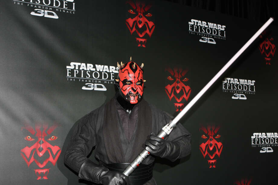 "Darth Maul first appears in ""Star Wars Episode I: The Phantom Menace."" With his crown of horns and double-edged light saber, the character definitely has a striking image.   Photo: Internet"