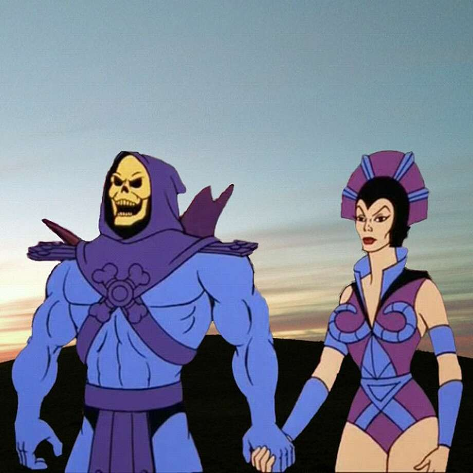 The main opposition to He-Man, Skeletor obviously had to be bald due to his skeletal appearance. He hides his hairless head under a purple hood.  Photo: Internet