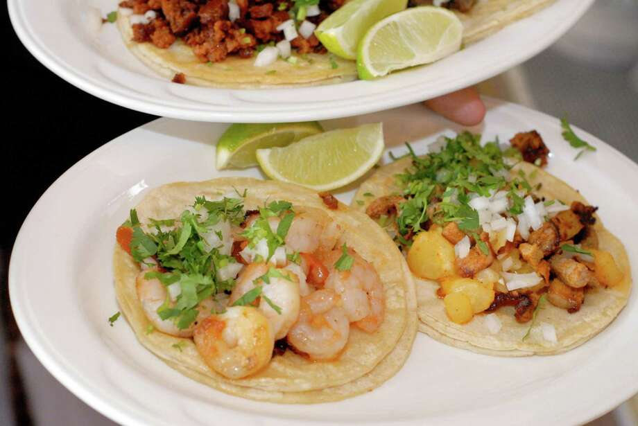 A assortment of tacos at Casa Villa Restaurant on East Main Street in Stamford, Conn on Monday August 12, 2013 Photo: Dru Nadler / Stamford Advocate Freelance
