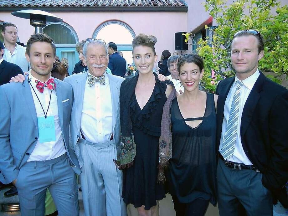 Galen Drever (left) with his dad, Maxwell Drever, and his siblings, Isabelle, Lauren and Noah Drever, at their Hotbed art fundraiser in Tiburon. Photo: Catherine Bigelow, Special To The Chronicle