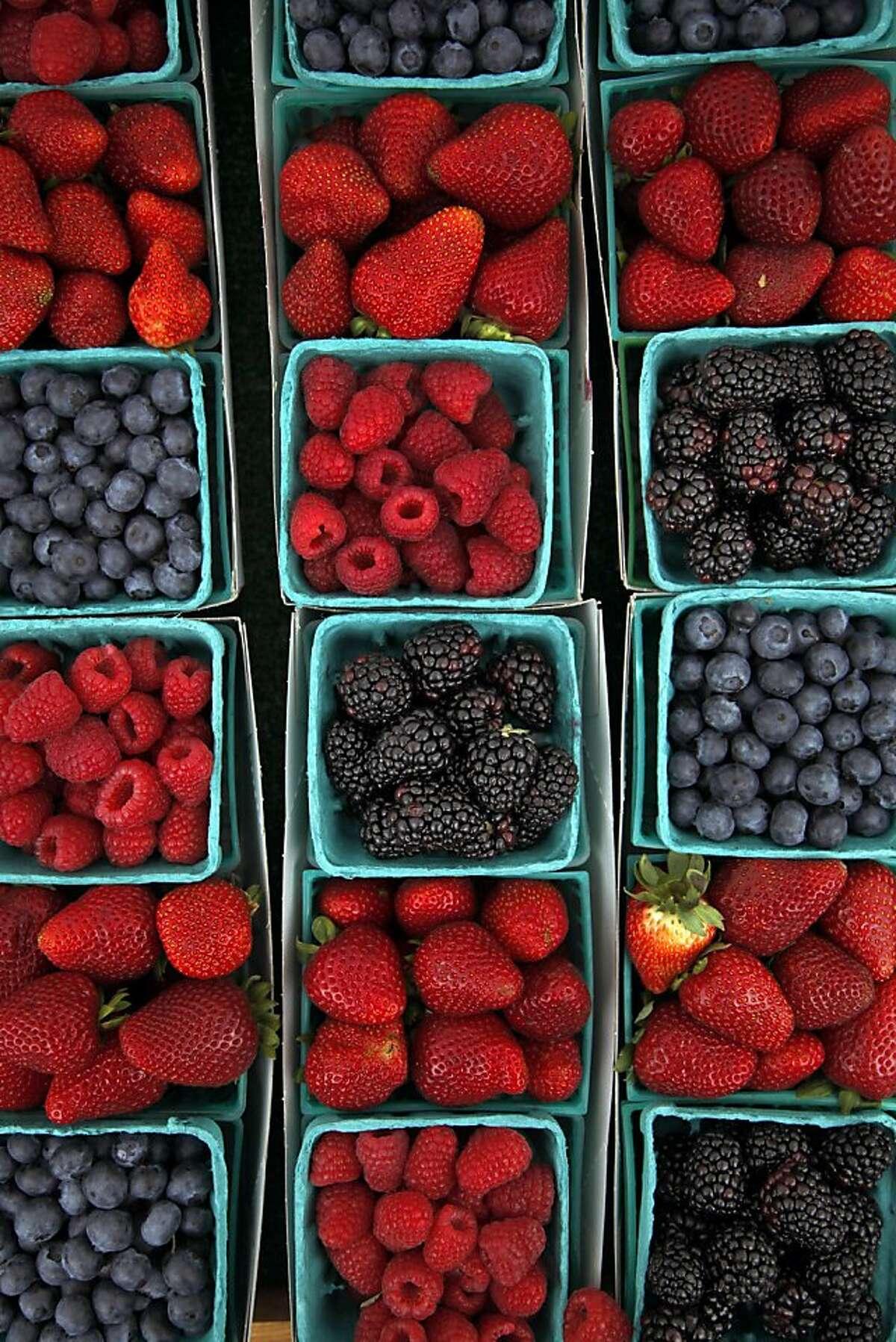 Berries at Aptos Farmers' Market in Aptos, Calif., on Saturday, August 3, 2013.