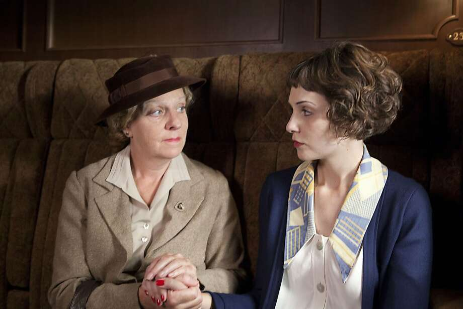 "Miss Froy (Selina Cadell, left) and Iris Carr (Tuppence Middleton) in ""The Lady Vanishes."" Photo: Egon Endr, BBC"