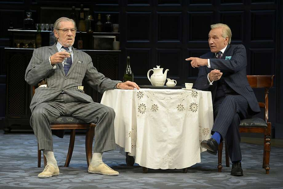 Ian McKellen (left) as the down-and-out writer Spooner and Patrick Stewart as the successful writer Hirst. Photo: Kevin Berne