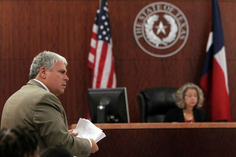 Defense attorney Allen Tanner during the Mona Nelson, accused of killing 12-year-old Jonathan Foster, pretrial motions on Monday, Aug. 12, 2013, in Houston. Photo: Mayra Beltran, Houston Chronicle / © 2013 Houston Chronicle