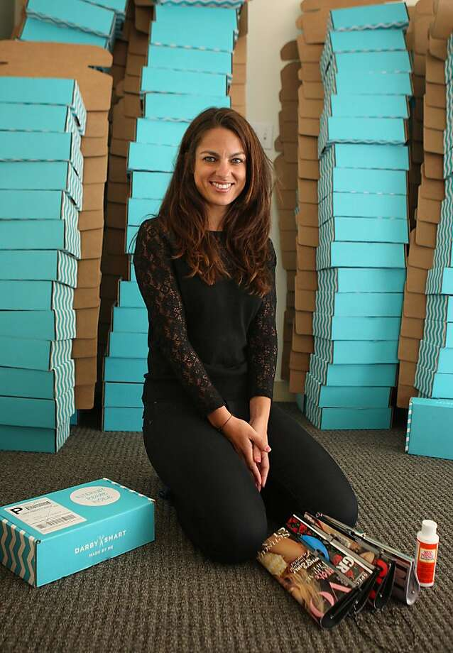 Nicole Farb founded Darby Smart, which bundles Pinterest favorites into DIY projects. Photo: Liz Hafalia, The Chronicle