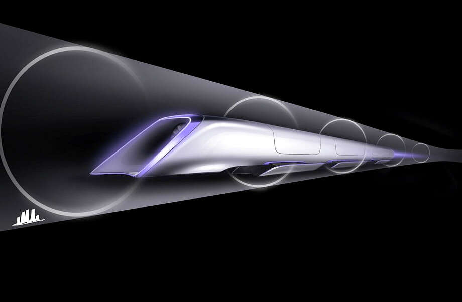 "An image released by Tesla Motors,  is a conceptual design rendering of the Hyperloop passenger transport capsule. Billionaire entrepreneur Elon Musk on Monday, Aug. 12, 2013 unveiled a concept for a transport system he says would make the nearly 400-mile trip in half the time it takes an airplane. The ""Hyperloop"" system would use a large tube with capsules inside that would float on air, traveling at over 700 miles per hour. (AP Photo/Tesla Motors) ORG XMIT: FX103 / Tesla Motors"