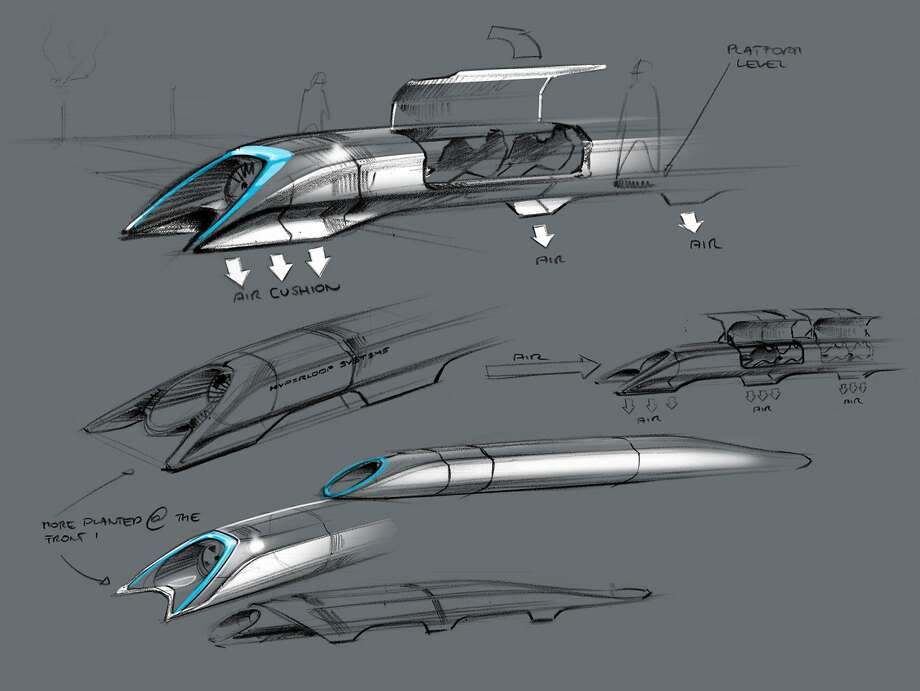 Elon Musk, the billionaire serial entrepreneur behind Tesla Motors and SpaceX, revealed plans for a transportation system that could whisk passengers from San Francisco to Los Angeles in 35 minutes through a set of tubes. Passengers would ride in small capsules traveling as fast as 760 miles per hour while floating on a thin cushion of air inside the tubes. Musk did not commit to making the design a reality, citing obligations at Tesla and SpaceX as priorities. Photo: Handout, AFP/Getty Images