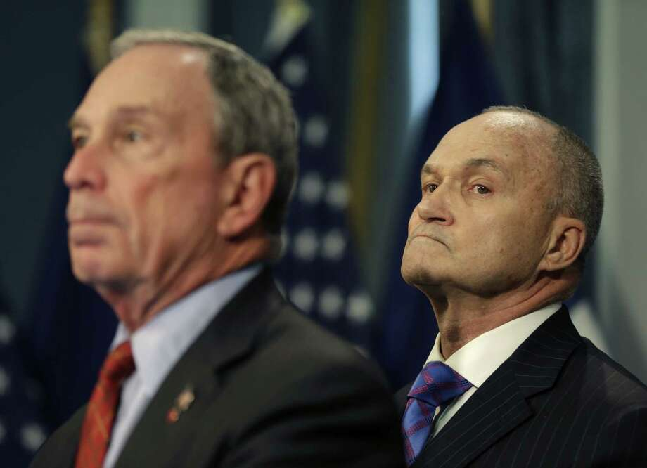 New York City Mayor Michael Bloomberg, left, and Police Commissioner Ray Kelly take questions during a news conference in New York, Monday, Aug. 12, 2013.  A U.S. judge has appointed a monitor to oversee the New York Police Department's controversial stop-and-search policy, saying it intentionally discriminates based on race and has violated the rights of tens of thousands of people. (AP Photo/Seth Wenig) ORG XMIT: NYSW108 Photo: Seth Wenig / AP