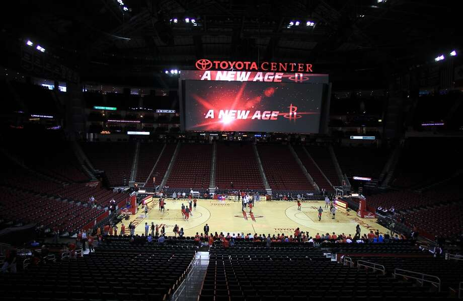 Toyota Center  The video boards debuted during the 2012-13 preseason. Photo: Karen Warren, Houston Chronicle