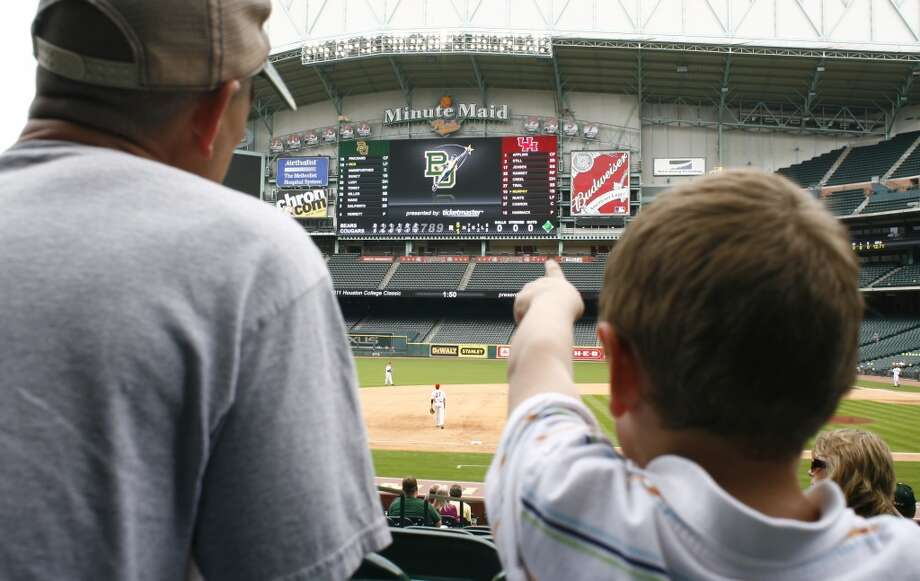 Minute Maid Park  The park's upgraded video board cost $13 million. Photo: Cody Duty, Houston Chronicle