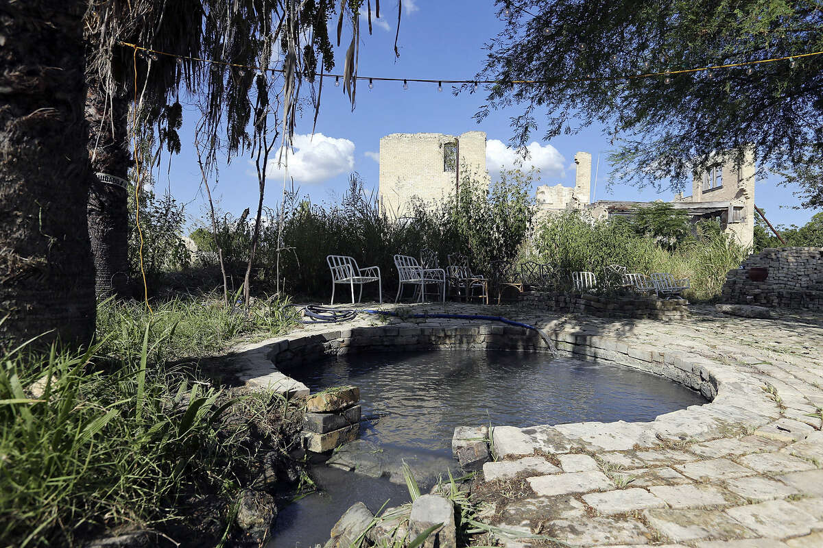 A hot tub at the Hot Wells Resort and Spa property contains the famed sulfur water prized by people for its therapeutic powers.