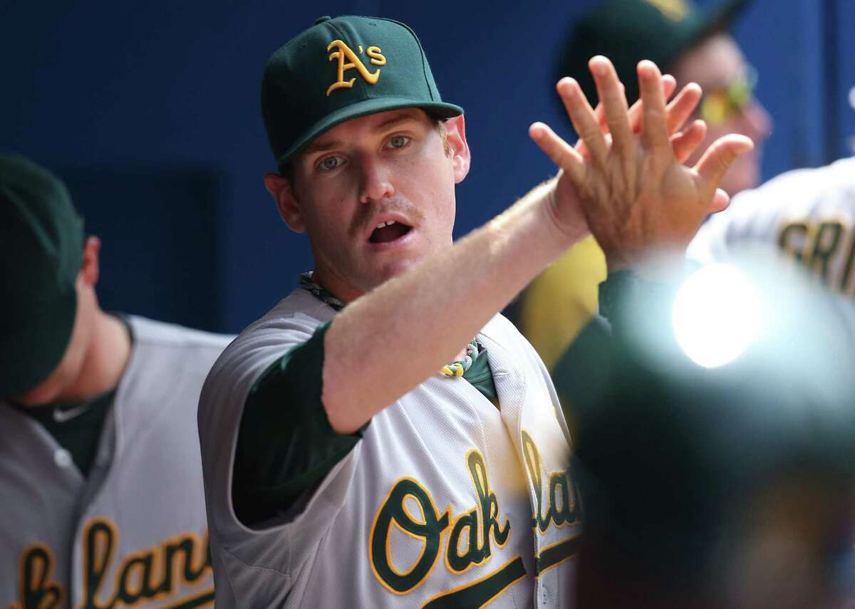 Athletics starting pitcher Dan Straily allowed one run during a career-high 71/3 innings.