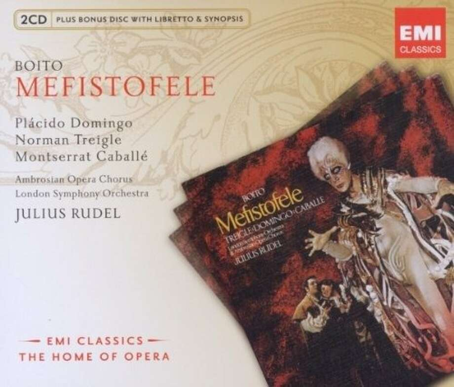 "Check out CDs representing the San Francisco Opera's fall schedule including, clockwise from left, ""Falstaff,"" ""Mefistofele"" and ""The Flying Dutchman."" Photo: Emi Classics"