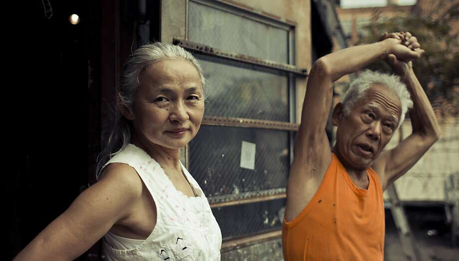 """Noriko Shinohara (Cutie, left) and boxing painter Ushio Shinohara  in the documentary """"Cutie and the Boxer,"""" about their chaotic 40-year marriage. The film opens Friday in the Bay Area. Photo: Weinstein Co. Radius"""