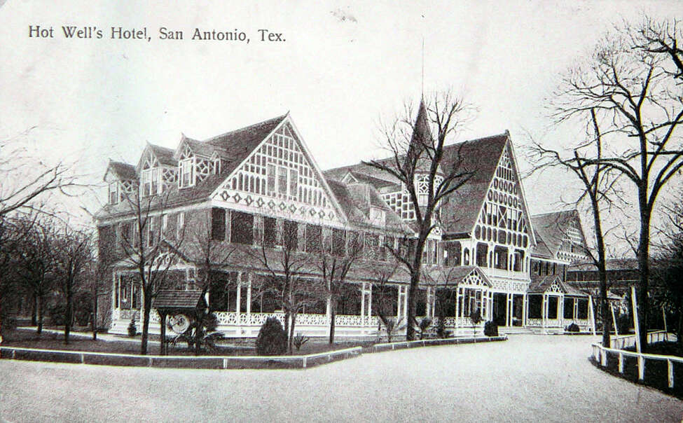 Hot Wells Resort and Spa postcards found in the UTSA Center for Archaeological Research.