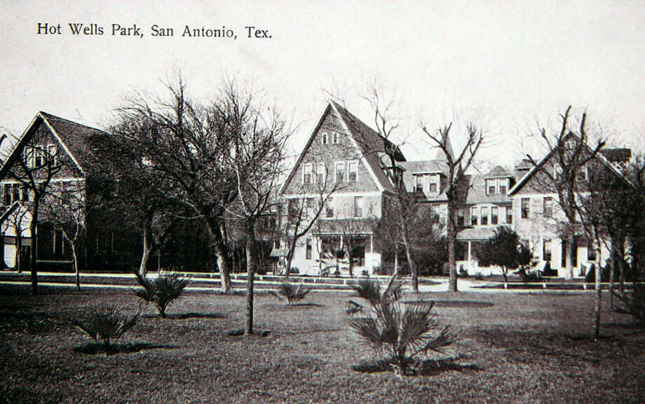 Hot Wells Resort and Spa postcards found in the UTSA Center for Archaeological Research. Photo: BILLY CALZADA, San Antonio Express-News / SAN ANTONIO EXPRESS-NEWS