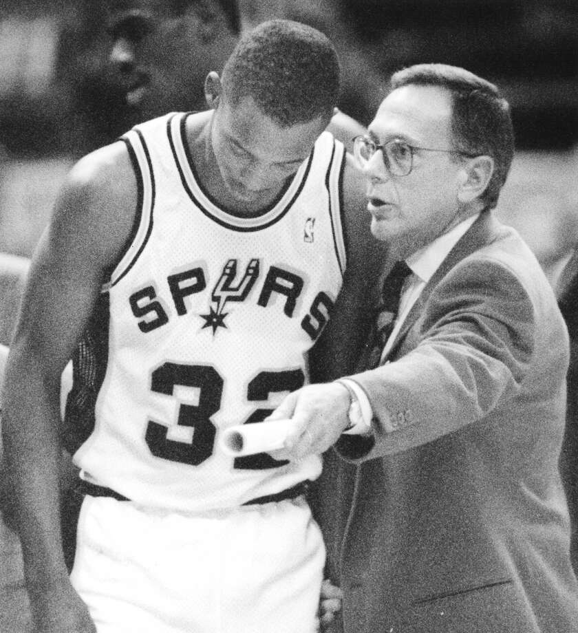 1988-1992, Larry Brown: 153 wins-131 losses; This was Brown's first NBA head coaching job after a stint as the head coach at the University of Kansas. Brown asked to be fired in the middle of the 1991-92 season after butting heads with owner Red McCombs and soon after took a head coaching job with the Los Angeles Clippers. (San Antonio Express-News file photo) Photo: San Antonio Express-News File Photo
