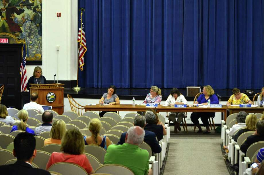 The Board of Education heard input from parents about qualites they wanted to see in an interim special education director on Thursday, August 8. Photo: Megan Spicer