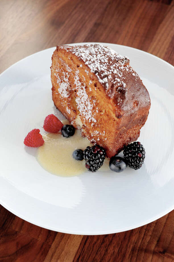 Monkey Bread French Toast with orange rum marscarpone and vanilla syrup is one of the options on Triniti's HRW brunch menu.  The restaurant is located 2815 S. Shepherd. For a complete list of Houston Restaurant Week restaurants, as well as menus and maps, go to houstonrestaurantweeks.com. Photo: Debora Smail