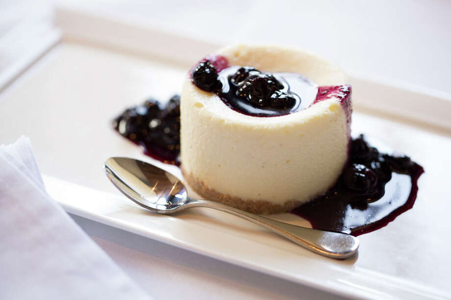 Creme Fraiche Cheesecake with blueberry compote is one of the dessert options at Federal Grill during HRW.  The restaurant is located 510 Shepherd. For a complete list of Houston Restaurant Week restaurants, as well as menus and maps, go to houstonrestaurantweeks.com. Photo: Jill Hunter, 2013 Jill Hunter / 2013 Jill Hunter